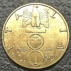 Moneta > 50lirów, 1936 - Włochy  - obverse