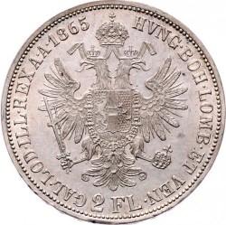 Монета > 2флорина, 1859-1865 - Австрія  - reverse
