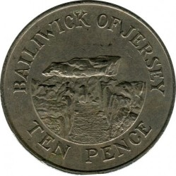 Moeda > 10pence, 1983-1990 - Jersey  - obverse