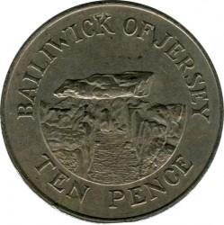 Moeda > 10pence, 1983-1990 - Jersey  - reverse