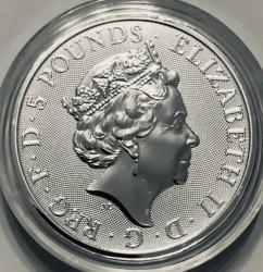 Монета > 5фунтів, 2019 - Велика Британія  (Звірі Королеви - Сокіл Плантагенетів) - obverse