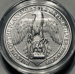 Монета > 5фунтів, 2019 - Велика Британія  (Звірі Королеви - Сокіл Плантагенетів) - reverse