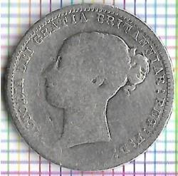 Moneta > 6pensów, 1867-1880 - Wielka Brytania  - obverse