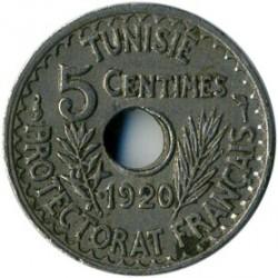 მონეტა > 5სანტიმი, 1920 - ტუნისი  (Diameter 17mm) - reverse