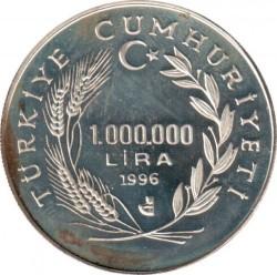 Münze > 1.000.000Lira, 1996 - Türkei  (Gefährdete Arten - Elwes-Schneeglöckchen) - obverse