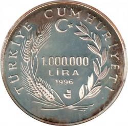 Münze > 1.000.000Lira, 1996 - Türkei  (Hulusi Behçet) - obverse