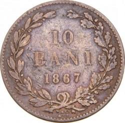 Moneda > 10bani, 1867 - Romania  - obverse