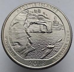 Moneda > ¼dólar, 2018 - Estados Unidos  (Parque Nacional Costero Apostle) - reverse