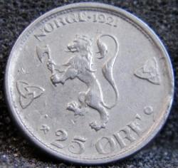 Moneta > 25erės, 1921-1923 - Norvegija  - reverse