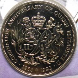 Moneda > 2libras, 1993 - Guernesey  (40 aniversario - Coronación de la Reina Elisabeth II) - obverse