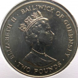 Moneda > 2libras, 1993 - Guernesey  (40 aniversario - Coronación de la Reina Elisabeth II) - reverse