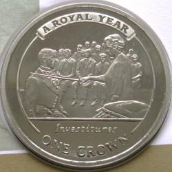 Moneta > 1corona, 2005 - Gibilterra  (Un anno reale - Investiture) - reverse
