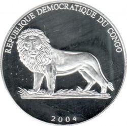Moneta > 10franków, 2004 - Kongo - KRD  (Piłka nożna - Hiszpania) - obverse