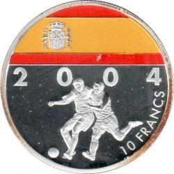 מטבע > 10פרנק, 2004 - קונגו - הרפובליקה דאמוקרטית קונגו  (Soccer - Spain) - reverse