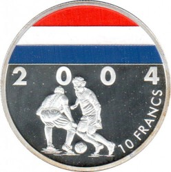 Coin > 10 francs, 2004 - Congo - DRC  (Soccer - Netherlands) - reverse