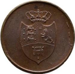 Кованица > 4skilling, 1815 - Данска  - obverse