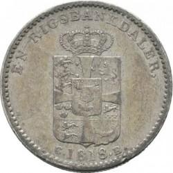 سکه > 1ریسبانکدالر, 1813-1819 - دانمارک  - reverse