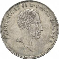 Кованица > 1ригсбанкдалер, 1833-1839 - Данска  - obverse