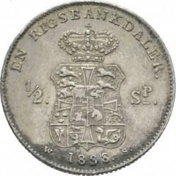 Кованица > 1ригсбанкдалер, 1833-1839 - Данска  - reverse