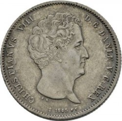 Moneta > 1rigsbankdaler, 1842-1847 - Dania  - obverse