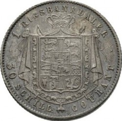 Moneta > 1rigsbankdaler, 1842-1847 - Dania  - reverse