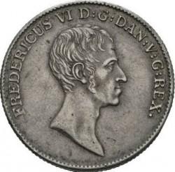 Кованица > 1специдалер, 1820-1839 - Данска  - obverse