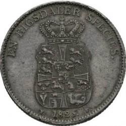 Кованица > 1специдалер, 1820-1839 - Данска  - reverse