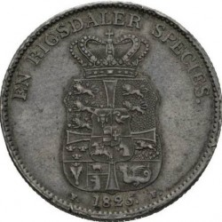 Mynt > 1speciedaler, 1820-1839 - Danmark  - reverse