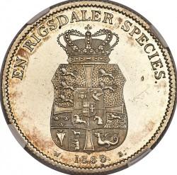 Monedă > 1speciedaler, 1820-1839 - Danemarca  - reverse