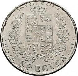 Кованица > 1специдалер, 1849-1854 - Данска  - reverse