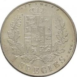 Монета > 1спесиедалер, 1849-1854 - Дания  - reverse