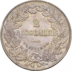 العملة > 2ريسدالر, 1854-1863 - الدنمارك  - reverse