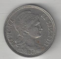 Moeda > 5pesos(papelmoneda), 1907 - Colômbia  (Leprosarium Coinage) - obverse