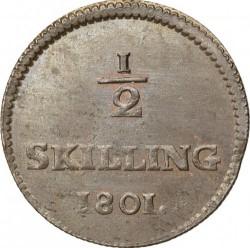 Монета > ½скилинг, 1799-1802 - Швеция  - reverse