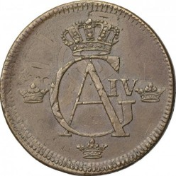 Монета > 1скилинг, 1802-1805 - Швеция  - obverse