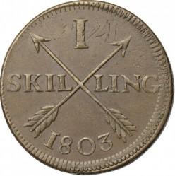 Монета > 1скилинг, 1802-1805 - Швеция  - reverse