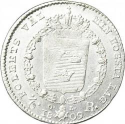 Монета > ⅙риксдалер, 1809-1814 - Швеция  - reverse