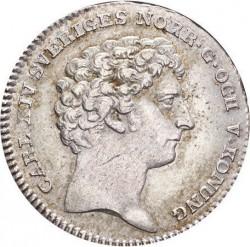 Mynt > ⅙riksdaler, 1819-1826 - Sverige  - obverse