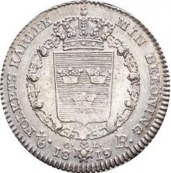 Mynt > ⅙riksdaler, 1819-1826 - Sverige  - reverse