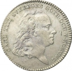 Münze > ⅓Riksdaler, 1813-1814 - Schweden   - obverse