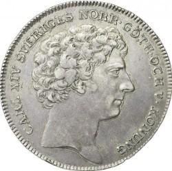 錢幣 > 1瑞斯代勒, 1818-1827 - 瑞典  - obverse