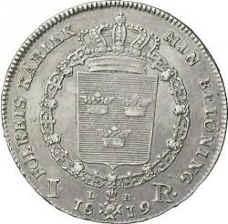 錢幣 > 1瑞斯代勒, 1818-1827 - 瑞典  - reverse