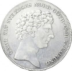 Coin > 1riksdaler, 1818-1827 - Sweden  - obverse