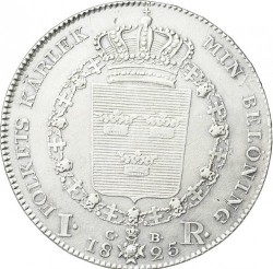 Moneda > 1riksdaler, 1818-1827 - Suècia  - reverse