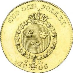 العملة > 1دوكات , 1801-1809 - السويد  - reverse