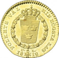 Pièce > 1ducat, 1810-1814 - Suède  - reverse