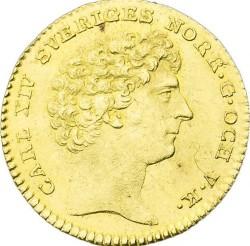 Монета > 1дукат, 1818-1829 - Швеция  - obverse