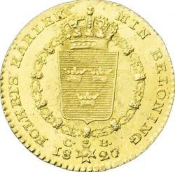 Монета > 1дукат, 1818-1829 - Швеция  - reverse