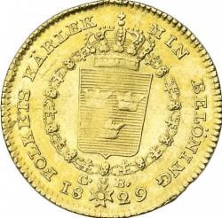 מטבע > 1דוקאט, 1818-1829 - שוודיה  - reverse