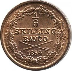 Монета > ⅙скилингбанко, 1844-1855 - Швеция  - reverse